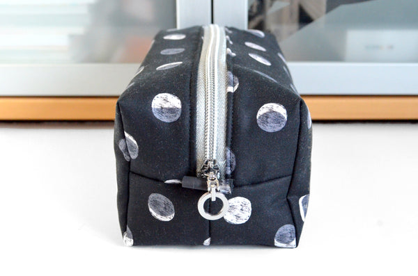 Silver Moon Boxy Toiletry Bag