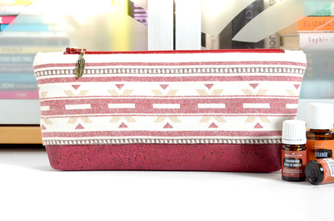 Red Taos Flannel Essential Oil Bag