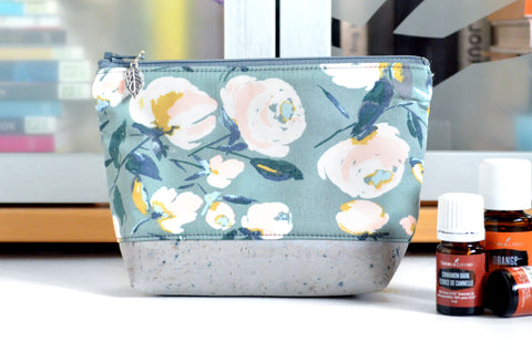 Green & Grey Floral Essential Oil Bag