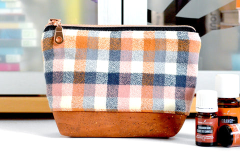 Nutmeg Plaid Flannel Essential Oil Bag