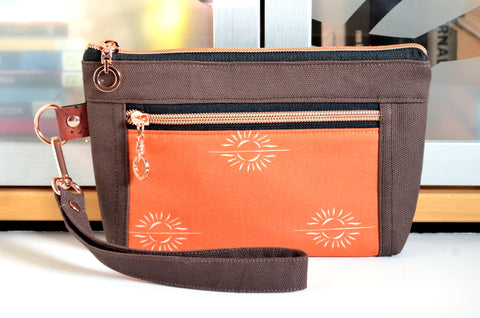 Harvest Sun Double-Zip Wristlet
