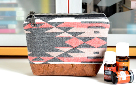 Black Taos Flannel Essential Oil Bag