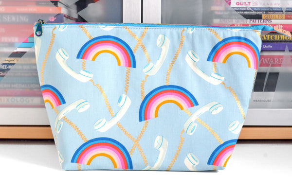 Hello Rainbow Jumbo Toiletry Bag