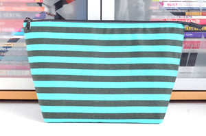 Classic Stripes in Blue Jumbo Toiletry Bag