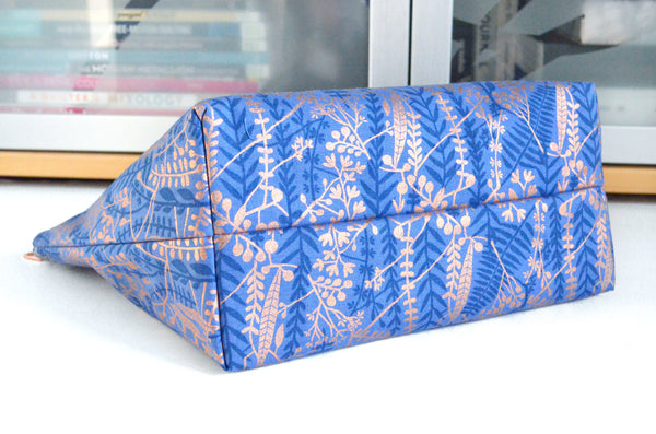 Airflow Blue & Rose Gold Jumbo Toiletry Bag