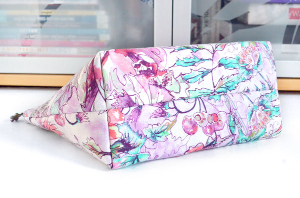 Purple Bloom Jumbo Toiletry Bag