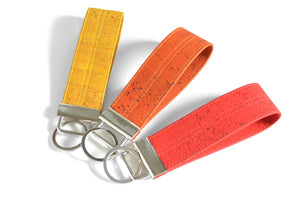 Warm Tones Cork Leather Keychain