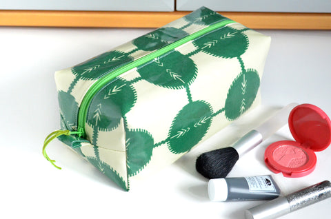 Green Coordinates Laminated Toiletry Bag