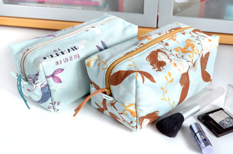 Light Blue Mermaid Toiletry Bag