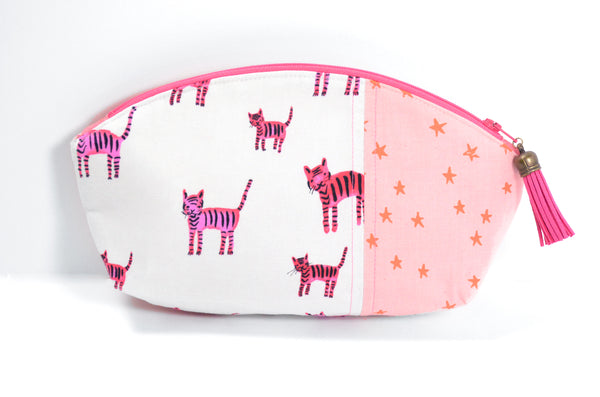 Pink Kitty Curved Pouch