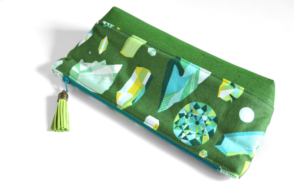 Green Gemstone Essential Oil Bag