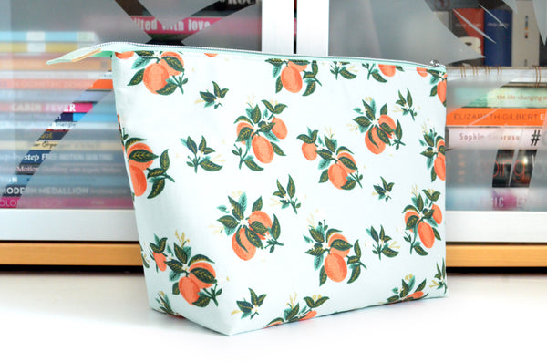 Rifle Paper Co Orange Blossom Jumbo Toiletry Bag