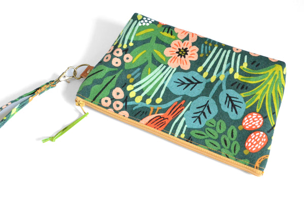 Rifle Paper Co. Jungle Double-Zip Wristlet