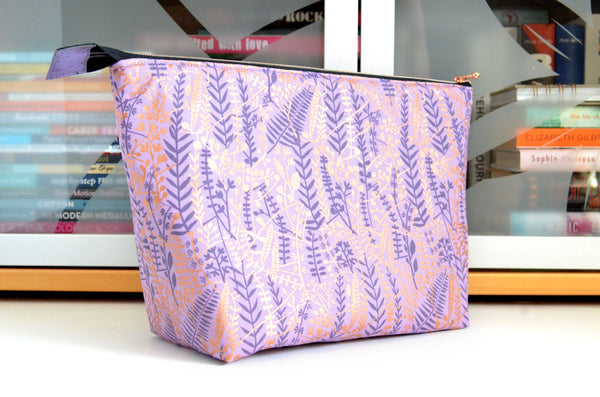 Airflow Purple & Rose Gold Jumbo Toiletry Bag