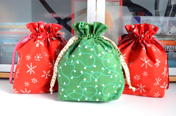 Merriment Fabric Gift Bag
