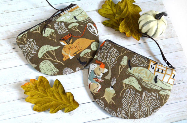 Brown Woodland Scenery Coin Purse
