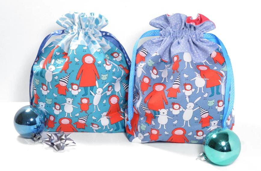 Blue Elf Fabric Gift Bag