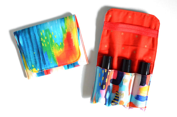 Rainbow Abstract Roller Bottle Holder