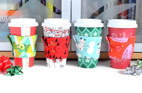 Bright Holiday Coffee Sleeve