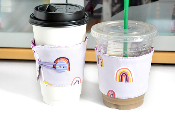 Purple Rainbow Coffee Sleeve