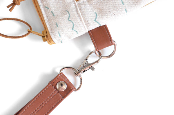 Rifle Paper Co. New York Double-Zip Wristlet