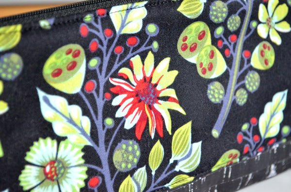 Black Floral Essential Oil Bag