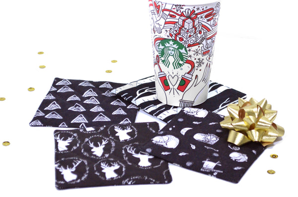 Black Holiday Drink Coasters