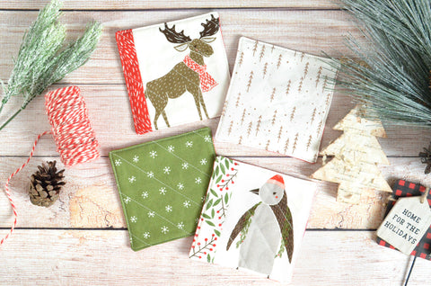 Merriment Holiday Drink Coasters
