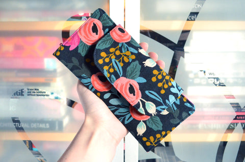 Navy Rifle Paper Co Les Fleurs Wallet