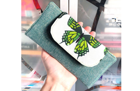 Green Butterfly Wallet