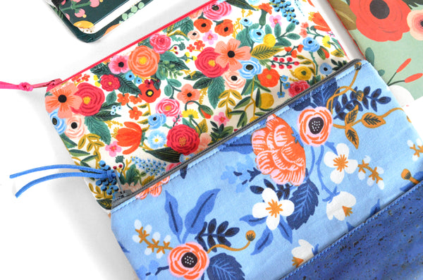 Floral Rifle Paper Co. Cork Leather Pouch