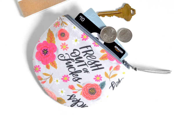 Round Coin Purse - Fresh Out