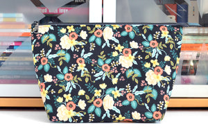 Rifle Paper Co Black Birch Floral Jumbo Toiletry Bag