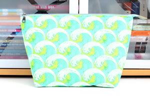 Seaglass Waves Jumbo Toiletry Bag