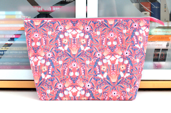 Rifle Paper Co Pink Tapestry Jumbo Toiletry Bag