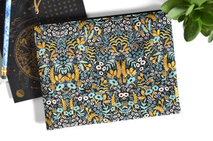 Large Pouch - Small Black & Gold Rifle Paper Floral