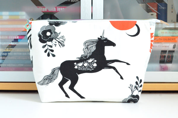 Crescent Unicorn Jumbo Toiletry Bag