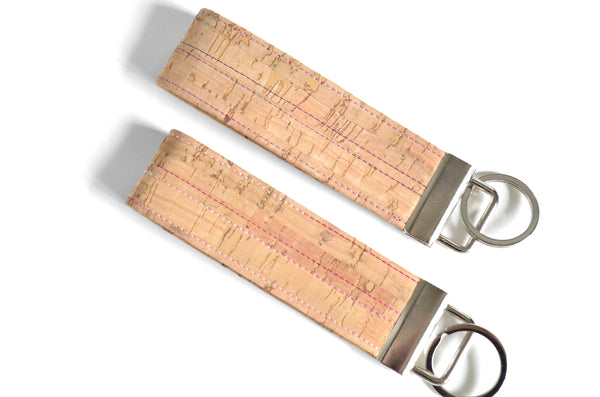 Natural Cork Leather Keychain
