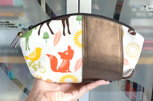 Colourful Woodland Curved Pouch