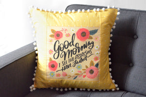 Pillow Cover - Good Morning
