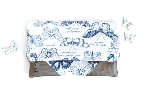 Butterfly Fold Over Clutch