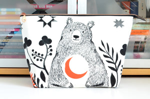 Crescent Bear Jumbo Toiletry Bag