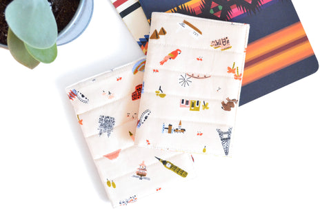Rifle Paper Co Travel Icons Passport Cover