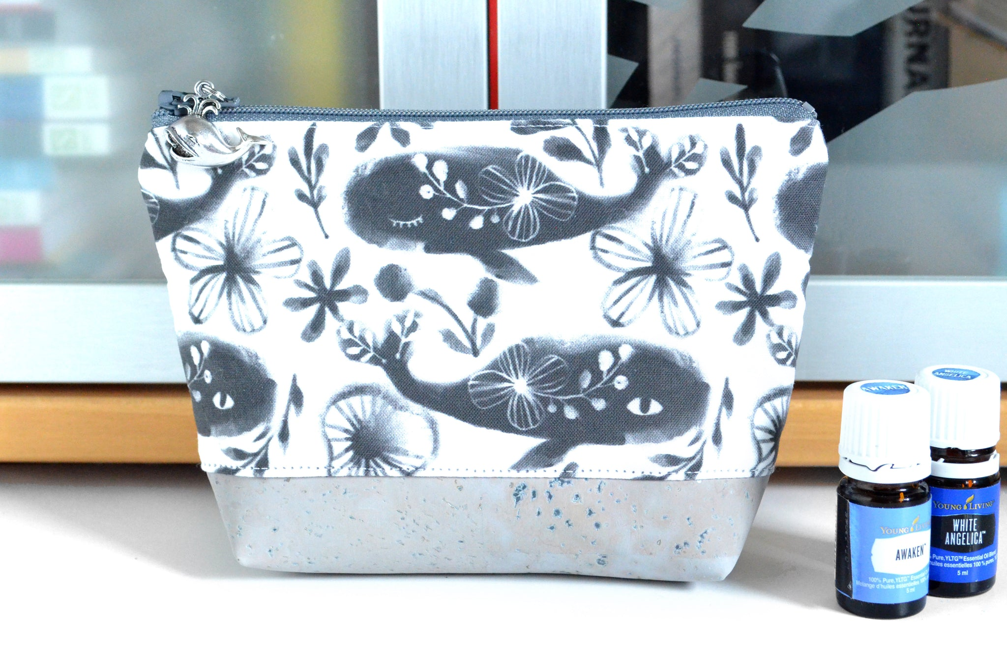 Mini Whale Essential Oil Bag