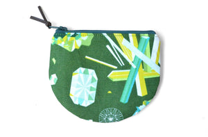 Green Gemstone Round Coin Purse