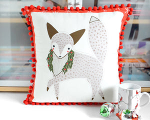 Pillow Cover - Holiday Fox