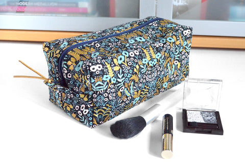 Black & Gold Rifle Paper Co Toiletry Bag