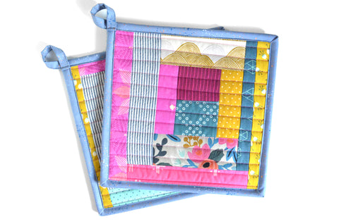 Rifle Paper Rosa Pot Holders - Speckle Binding