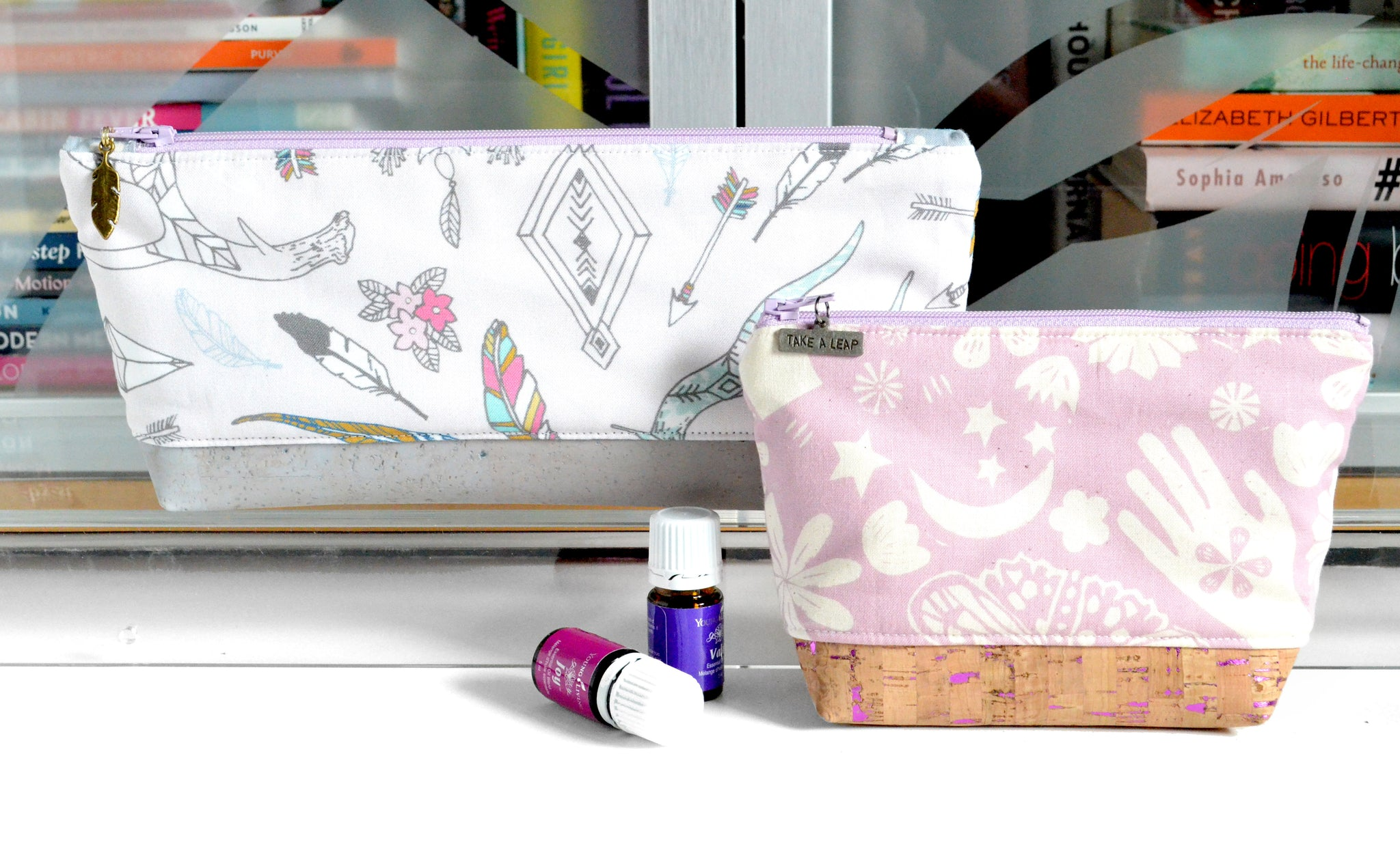 Pink Boho Essential Oil Bag
