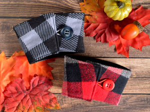 Red Flannel Plaid Coffee Sleeve